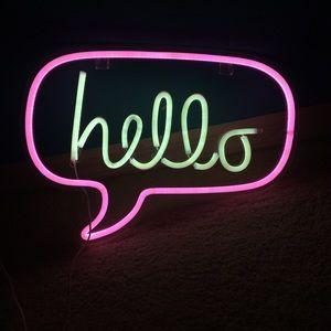Neon Hello Sign